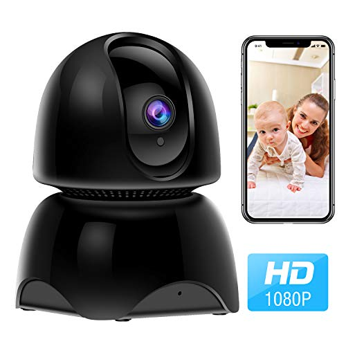 WiFi Pet Camera, 1080P Wireless IP Indoor Home Security Camera, Dog...