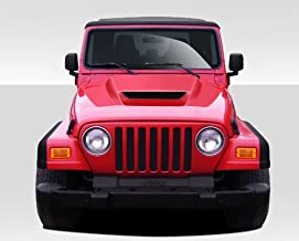 Extreme Dimensions Duraflex Replacement for 1997-2006 Jeep Wrangler CVX Hood (Non Highline fenders) - 1 Piece