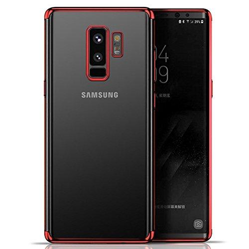 Ysimee Compatible avec Samsung Galaxy S9 Plus Coque en Silicone Souple Plaquée de Couleur Etui Housse de Protection Anti-Rayures et Shock-Absorption U