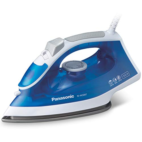 Panasonic NI-M300TA 1500W Advanced Titanium Coated Sole Plate, Vertical, Blue/White Steam/Dry Iron