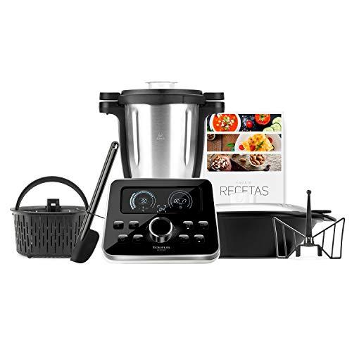 Taurus Foodie-Robot de Cocina multifunción Recetas Incluido, 31 Funciones, Báscula integrada, Libre de BPA, 1500 W, 3.5 litros, Acero Inoxidable, Negro Inox