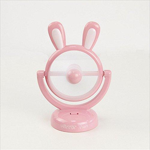 Mini USB mini-Ventilatore Ventola portatile di coniglio mini frigoriferi, rosa