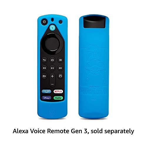 Star Wars The Mandalorian Remote Cover, for Fire TV Alexa Voice Remote Gen 3 (Bounty Blue)