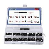 XTVTX 500 unidades Juego de tornillos para ordenador portátil, 10 tamaños, para ordenador portátil, juego surtido de accesorios para reparación de computadora portátil universal (M2 M2.5 M3)