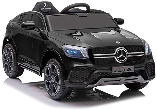Conducción eléctrica en coche Mercedes GLC Coupe negro lacado