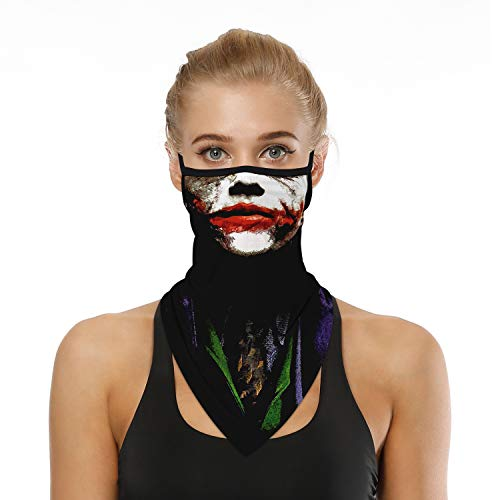 YAYOUREL Halloween Clown Jack Skeleton Ghost Joker Sugar Skull Bandana...