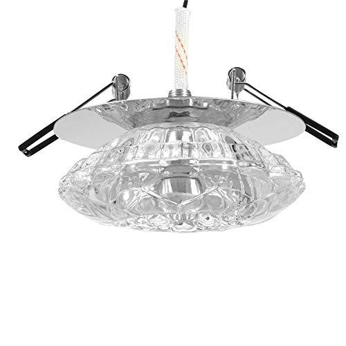 Riuty LED Deckenleuchte, 3W Einbaustrahler Leuchte Kristall Lampenschirm Home Decoration Öffnung 5-8cm(warmes Licht)