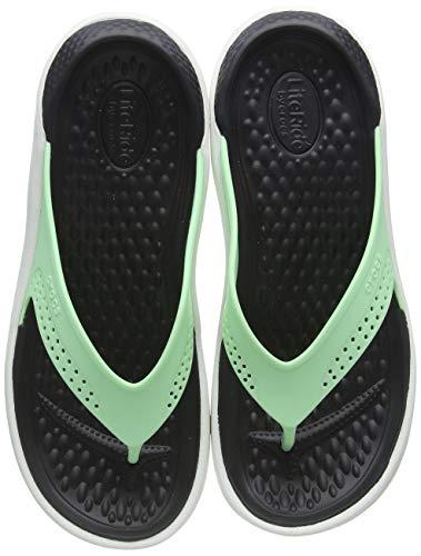 Crocs Women's Flip Flop Sandals, Black Smoke