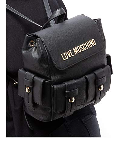 Love Moschino SS21 - Mochila para mujer, color negro, tamaño mediano