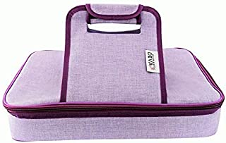 Premium Thermal Insulated Stylish Casserole Carrier to Tote and Keep Best Lasagna Potluck Picnic Holiday Dish & Recipes Hot or Cold for Hours by Domestic Diva LA (Lavender)