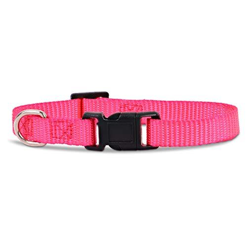 Woofery - Hundehalsband Katzenhalsband Nala - wasserabweisend XS 20-30 cm Pink