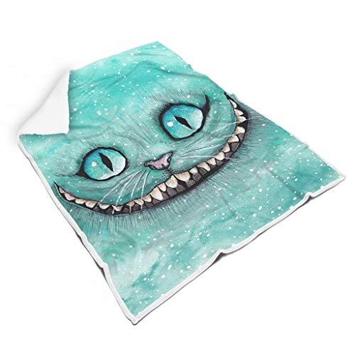 YxueSond 4-2-Cheshire-Cat-Were-Ah-Mad-Here deken, comfort, microvezel, Plush, polyester, voor volwassenen en kinderen