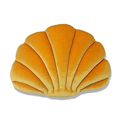 Sea Princess Seashell Decorative Pillow,1813 inch Sea Ocean Theme Seashell Conch Decorative Pillows for Sofa Couch or Bed,Thanksgiving Gifts(Medium Yellow)