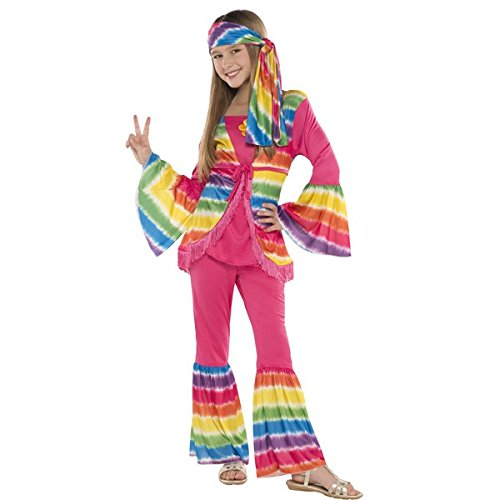 amscan 841110 Groovy Hippie Girl Costume, Children Standard Size, 1 Piece