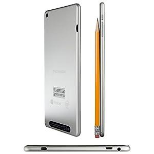 2016 NuVision 8-inch Full HD (1920 x 1200) IPS Touchscreen Tablet PC, Intel Atom Z3735F Quad-Core Processor, 2GB RAM, 32GB SSD eMMC, Webcam, WIFI, Windows 10, Silver