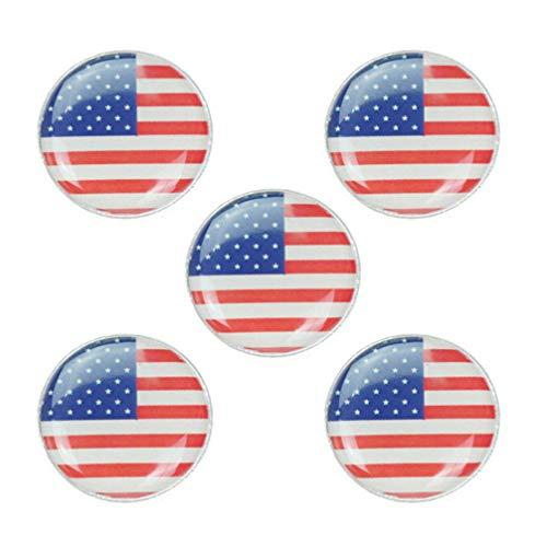 NONE 5 Stück Anstecknadeln Set Fahne Anstecker Brosche Dekorative Brosche Pin für Kragen Kleid Kleidung (Amerika)