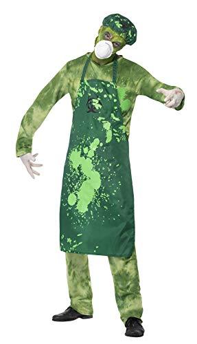 Smiffy's 40049L Biogevaar-kostuum voor heren, L, groen