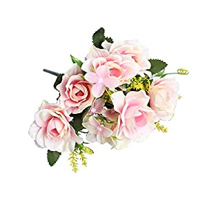 HEART SPEAKER 1Pc Artificial Gardenia Decorative Faux Silk Flower DIY False Flowers Floral Simulation Flowers for Home Ornament Light Pink