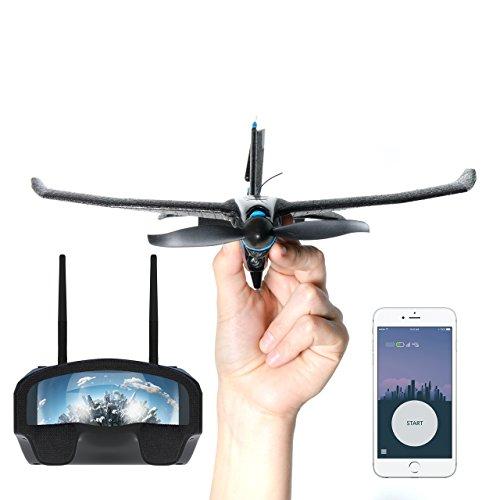TobyRich SmartPlane Pro FPV+: smartphone app bestuurd VR-stuntvliegtuig – op afstand bestuurde Virtual Reality drone voor iOS en Android; inclusief opnamefunctie en 2 GB SD-kaart