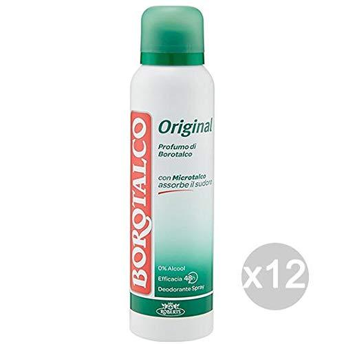 Borotalco - Juego de 12 desodorante en spray original de 125 ml, cuidado e higiene del cuerpo