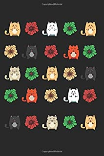 Vintage Japanese Cat Kawaii: Animal Lover Meowing Kitty Cute Best Gift Ideas Composition College Notebook and Diary to Write In / 120 Pages of Ruled Lined & Blank Paper / 6