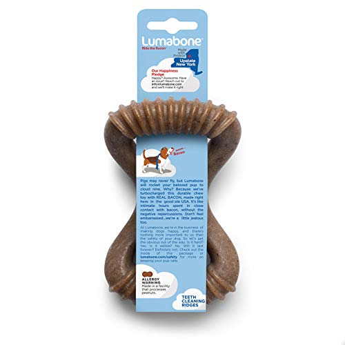 Lumabone Real Bacon Flavored Dental Dog Chew Toy