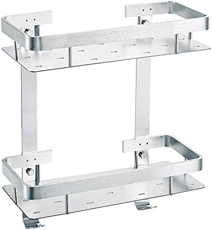 Kitchen accessories bathroom rack double side aluminum racks