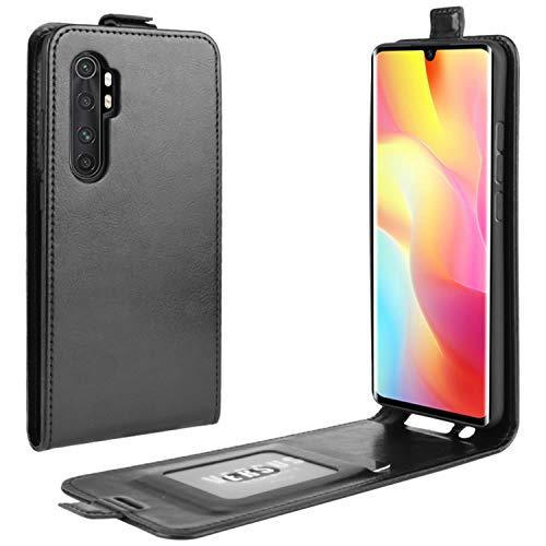 HualuBro Xiaomi Mi Note 10 Lite Hülle, Premium PU Leder Brieftasche Schutzhülle HandyHülle [Magnetic Closure] Handytasche Flip Hülle Cover für Xiaomi Mi Note 10 Lite Tasche (Schwarz)