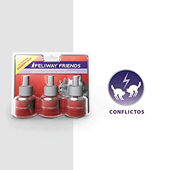 FELIWAY Friends – Anti Conflit pour Chat - Pack de 3 Recharges - 3 x 48 ml