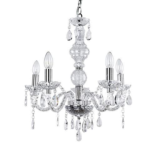 [lux.pro] Lámpara de araña LED elegante - con cinco brazos estilosa