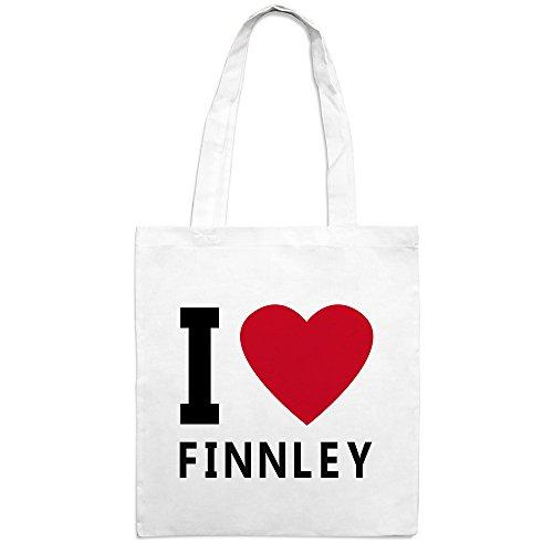 Jutebeutel mit Namen Finnley - Motiv