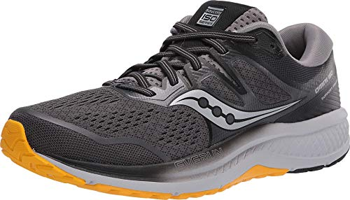 Saucony Omni ISO 2 Men's Running Shoes, Grey/Black/Yellow, 10