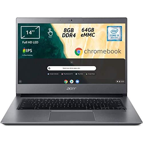 Acer Chromebook 714 CB714-1WT-330E, Touchscreen, Notebook, Processore Intel Core i3-8130U, Ram 8GB, eMMC 64GB, Display 14