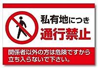 私有地につき通行禁止 注意看板メタル安全標識壁パネル注意マー表示パネル金属板のブリキ看板情報サイン