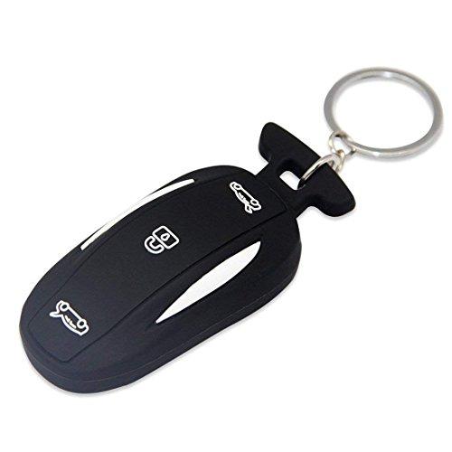 TeslaWorld Noir en Caoutchouc de Silicone de Voiture Keychain Coque Remote Support d'entrée sans Clé pour Tesla Modèle X