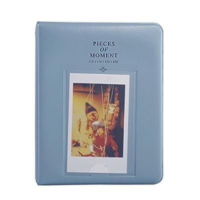 64 Pockets Photo Album for Mini Fujifilm Instax Mini 8 7s 25 50s 90 Polaroid & Name Card(Blue) Color: bluie, Model: