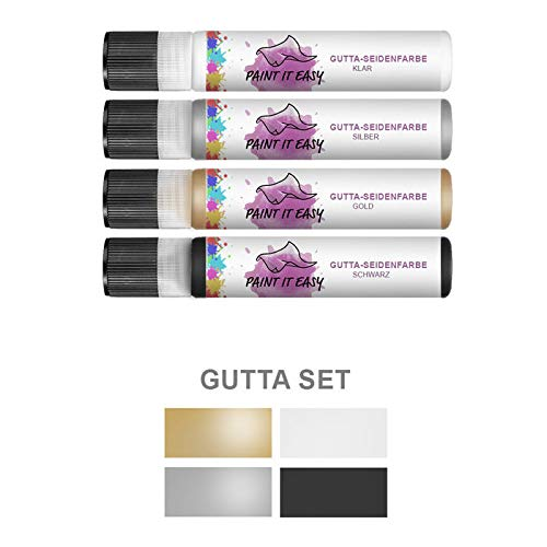 PAINT IT EASY Gutta / Seidenmalerei / Textil Konturfarbe, 28ml - Basic Set
