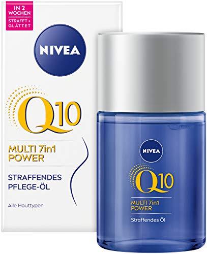 NIVEA Q10 Straffendes Pflege-Öl (100 ml), straffendes Hautpflege Öl gegen Dehnungsstreifen, Body Öl mit Q10, Macadamia-, Avocado- und Baumwollsamenöl