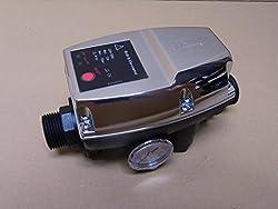 startet / stoppt die Pumpe bei Wasserentnahme der Verbrauchsstelle inkl. Trockenlaufschutz mit Manometer 0 - 12 bar Einsschaltdruck: 1 - 3,5 bar einstellbar - max. Arbeitsdruck: 10 bar Maße: 190 x 105 x 96 mm - Einbaulage: horizontal oder vertikal