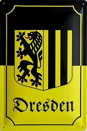 vielesguenstig-2013 Blechschild Schild 20x30cm - Dresden Wappen Flagge Sachsen Elbe