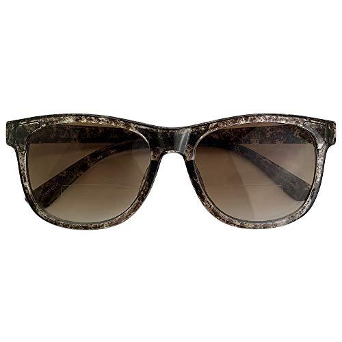 TekTek 遠近両用 サングラス(ウェイリントン)全額返金保証 度つき 遠近両用 メガネ おしゃれ 眼鏡 遠近両用 老眼鏡 男性 女性 メンズ レディース シニアグラス 紫外線 uv カット (度数:+1.5)