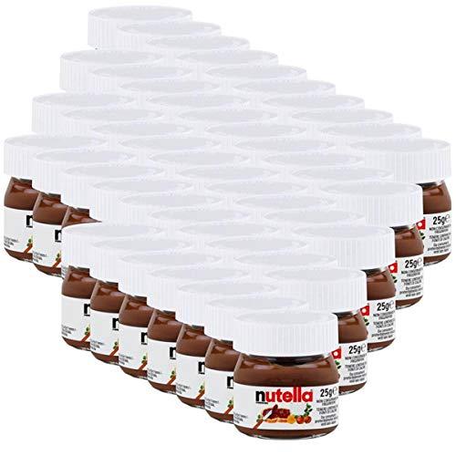 Ferrero Nutella Mini Glas Brotaufstrich Schokolade 25g - Nuss-Nougat (47er Pack)