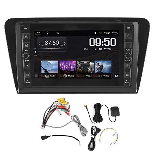 Navegación GPS del coche, pantalla del sistema del navegador GPS automático de 8 pulgadas Tipo de pulsación de botón Bluetooth 5.0 1 + 16G Apto para Octavia 2015-2019