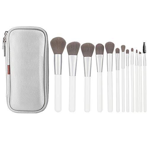 Maquillage Pinceau 12 Pcs Professionnels Outils De Maquillage De Fibres Mélangent Fondation Blush Fard à Paupières Brosse Pu Sac