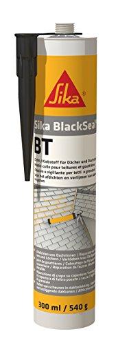 SikaBlackSeal BT, BTButylbasierender Dichtstoff für den Einsatz an Dächern und Dachrinnen, 300 ml, schwarz
