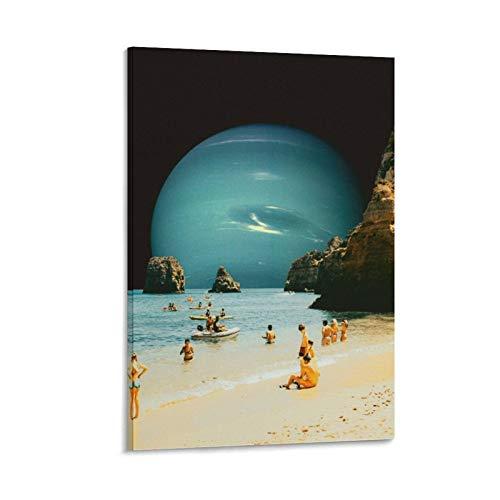 zhenting Kunstdruck auf Leinwand, Motiv: Weltraum, Strand, modernes Design, 50 x 75 cm