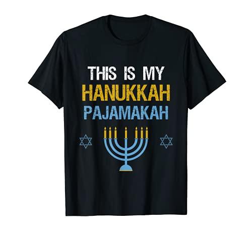 This Is My Hanukkah Pajamakah Chanukah Pajama Shirt T-Shirt