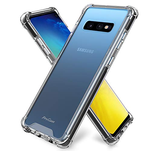 ProCase Coque pour Galaxy S10E, Bumper Étui Housse Case de Protection Transparent Mince Léger avec Absorption de Choc et Anti-Scratch pour Samsung Galaxy S10e 5.8 Pouces 2019 - Transparent