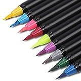 MorNon 21PCS Colores Arte Óleo Acuarela Dibujo Pintura Pincel Sketch Manga Pluma Set Rotuladores Acuarelables Rotuladores Finos
