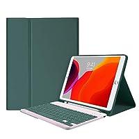 BJJXTD IPadのためのBluetoothキーボードケース10.2 8th Pro 11 2020 Air 3 10.5 Air 4 10.9 2018 9.7 Air 2 7th Generation Case Mini 5 (Color : Dark green 2, Size : 10.2 7th 8th Gen)